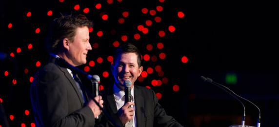 James Brayshaw and Ricky Ponting presenting